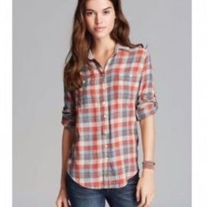 Jachs Girlfriend Bea Flannel Button-Down Shirt